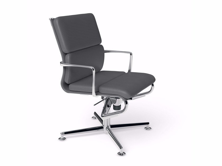 Height-adjustable swivel task chair with armrests MEETINGFRAME 52 SOFT - 484 - Alias