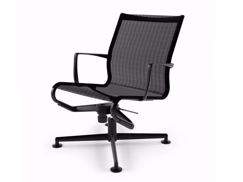 Swivel task chair with 4-Spoke base with armrests MEETINGFRAME LOUNGE 52 - 435 - Alias