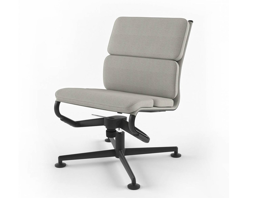 Height-adjustable swivel task chair with 4-Spoke base MEETINGFRAME LOUNGE 52 SOFT - 468 by Alias