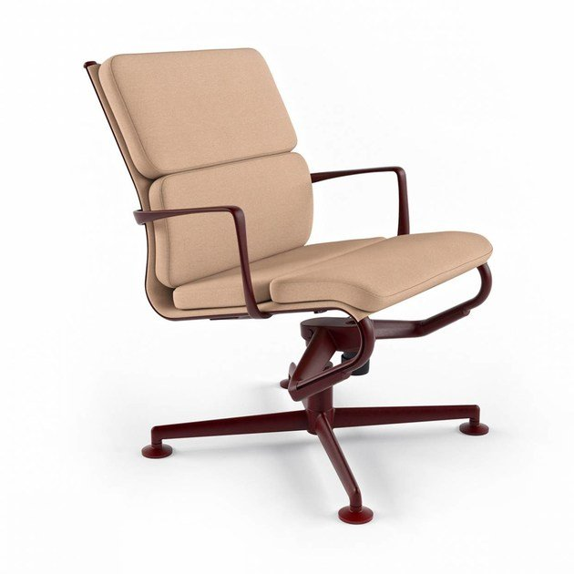Height-adjustable swivel task chair with armrests MEETINGFRAME LOUNGE 52 SOFT - 469 - Alias