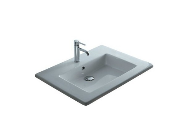 Inset rectangular ceramic washbasin MEG11 - 86 CM | Washbasin by GALASSIA