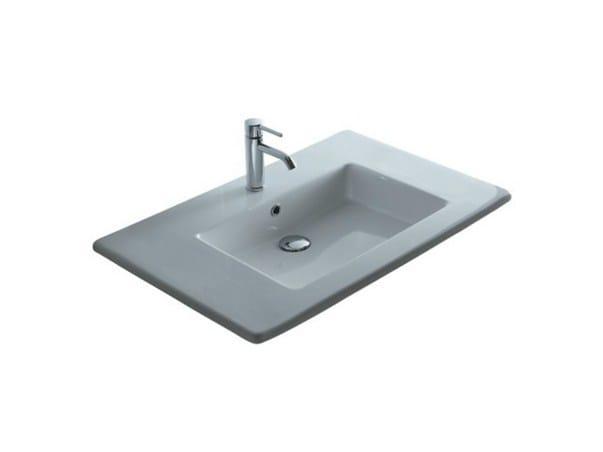 Inset rectangular ceramic washbasin MEG11 - 96 CM   Washbasin - GALASSIA