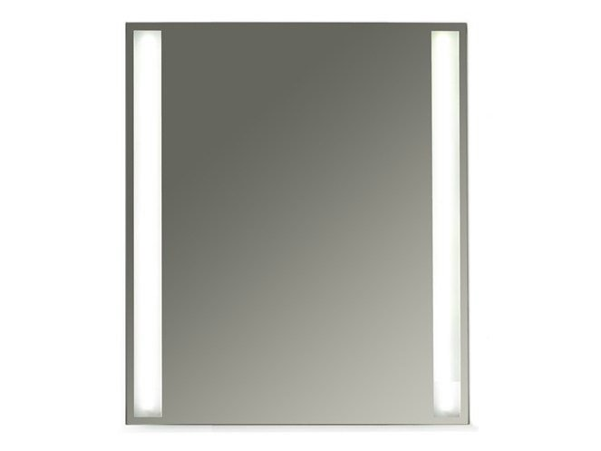 Wall-mounted bathroom mirror with integrated lighting MEG11 - 60 x 70 - GALASSIA