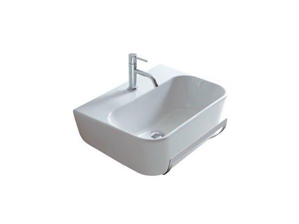 Wall-mounted ceramic washbasin MEG11 - 65X44 | Washbasin - GALASSIA