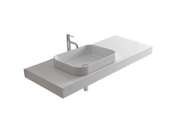 Single MDF washbasin countertop MEG11 | MDF washbasin countertop - GALASSIA