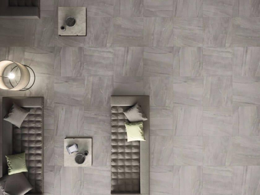 Porcelain stoneware flooring with stone effect MEGAGREY by GranitiFiandre