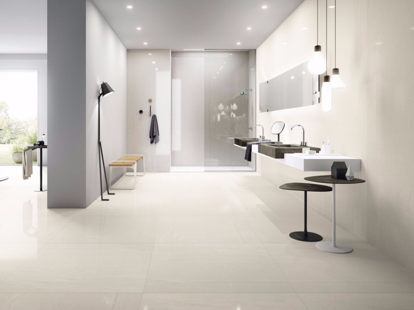 Porcelain stoneware wall/floor tiles with stone effect MEGAWHITE - GranitiFiandre