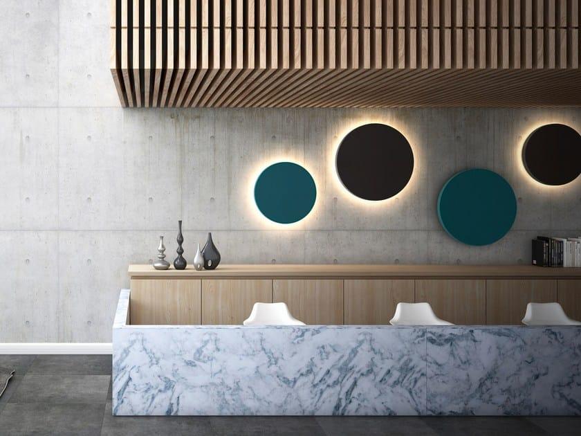 Pannello decorativo acustico in feltro con illuminazione integrata MELODIA | Pannello decorativo acustico by LvB Acoustics