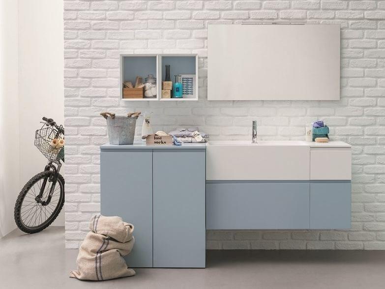 Sectional lacquered vanity unit MEMENTO | Vanity unit by Birex