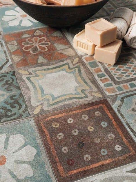 Pavimento rivestimento in gres porcellanato memory mood - Decori per pavimenti ...