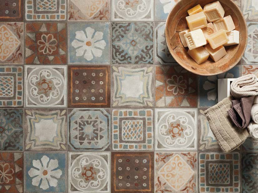 Pavimento rivestimento in gres porcellanato memory mood for Decori per piastrelle cucina