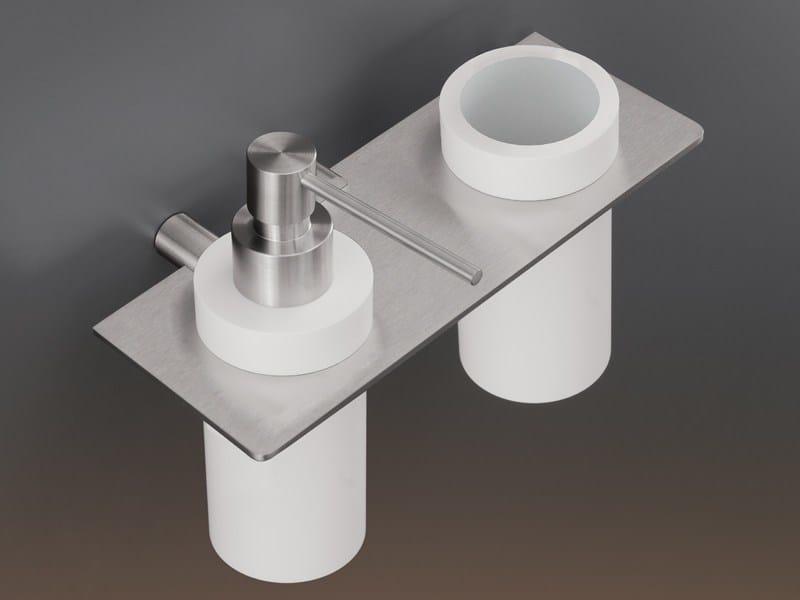 Shelf with toothbrush holder and dispenser MEN07 - Ceadesign S.r.l. s.u.