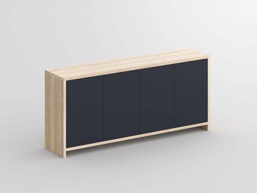 Solid wood sideboard with colored Bio MDF MENA | MDF sideboard - vitamin design