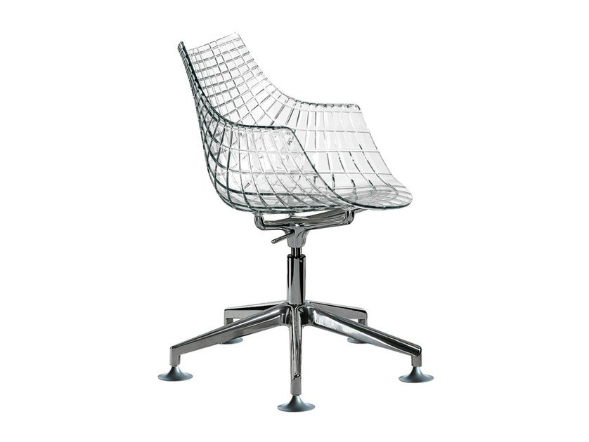 Chair with 5-spoke base MERIDIANA - Driade