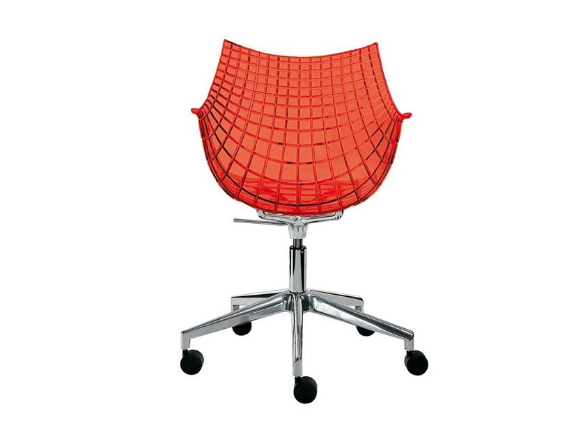 Chair with casters MERIDIANA by Driade