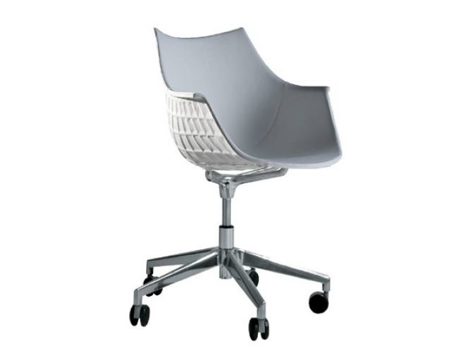 Easy chair with casters MERIDIANA - Driade