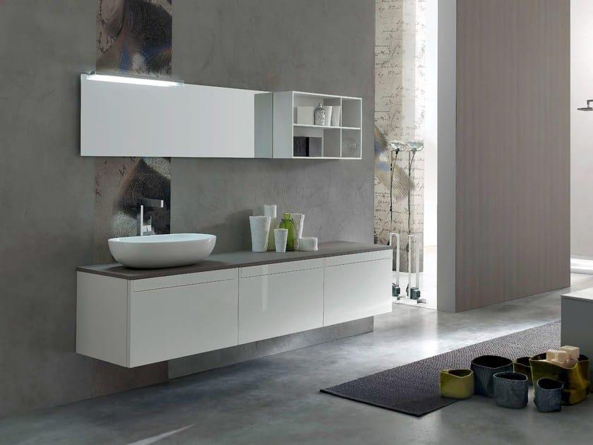 Sistema bagno componibile META - COMPOSIZIONE 7 by Arcom