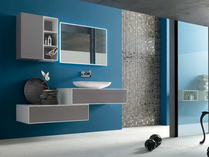 Bathroom cabinet / vanity unit META - COMPOSITION 8 by Arcom