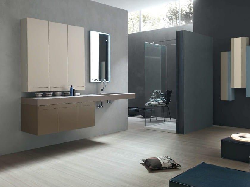 Sistema bagno componibile META - COMPOSIZIONE 9 - Arcom