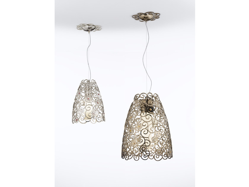 Metal pendant lamp with Swarovski® Crystals CRYSTAL MARINE | Metal pendant lamp - IDL EXPORT
