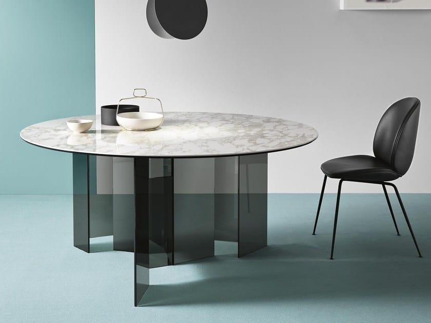 Tavolo da pranzo rotondo METROPOLIS | Tavolo rotondo - Tonelli Design