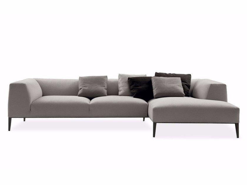 Fabric sofa with removable cover with chaise longue METROPOLITAN | Sofa with chaise longue - Poliform