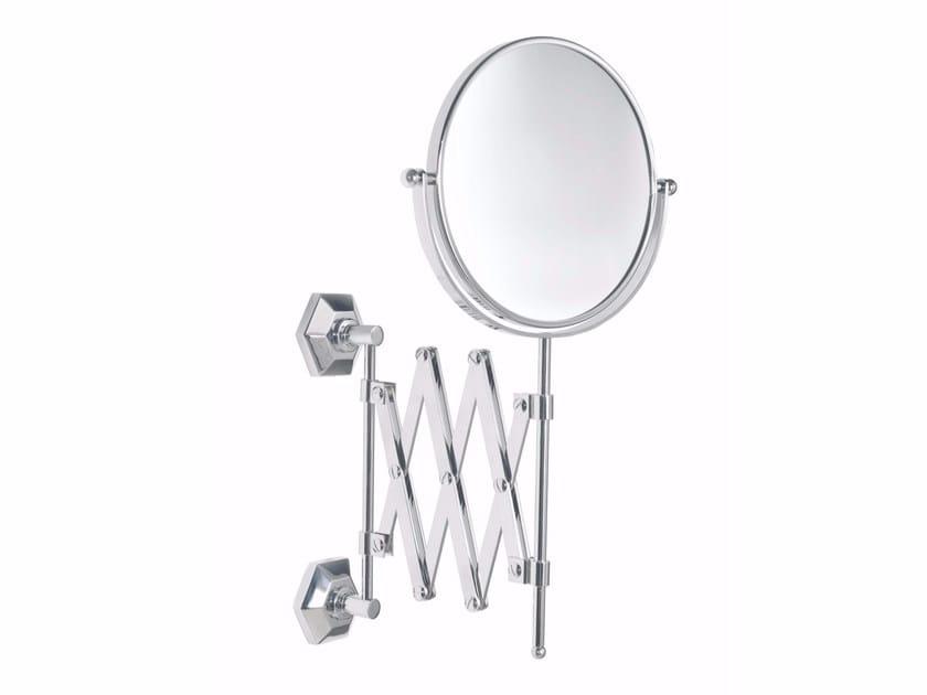 Wall-mounted round shaving mirror METROPOLITAN | Shaving mirror by GENTRY HOME