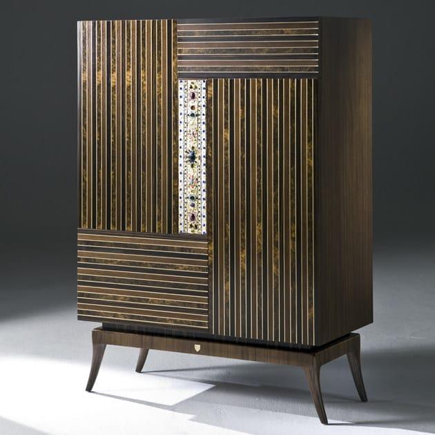 Wooden highboard with doors AUTARI - Rozzoni Mobili d'Arte