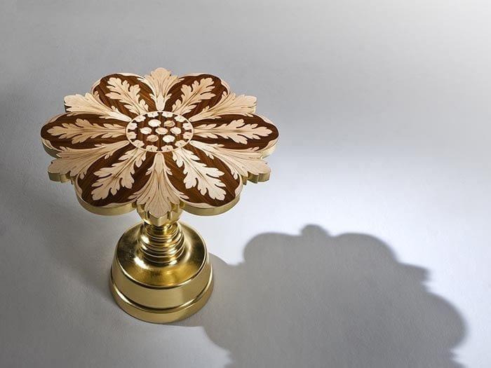 Gold leaf high side table MAGGIO - Rozzoni Mobili d'Arte