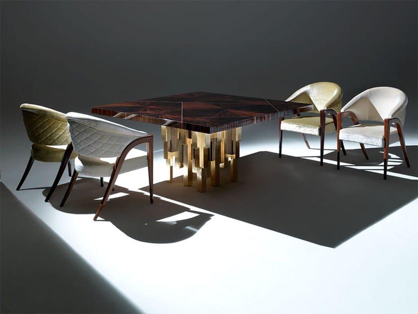 Square wooden living room table MERISI - Rozzoni Mobili d'Arte