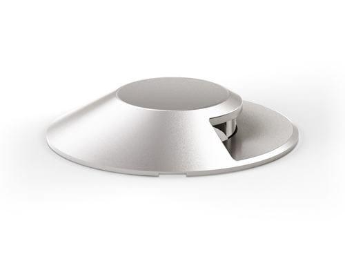 LED steel Floor Light MICRO FULL INOX ROLL OVER - Platek