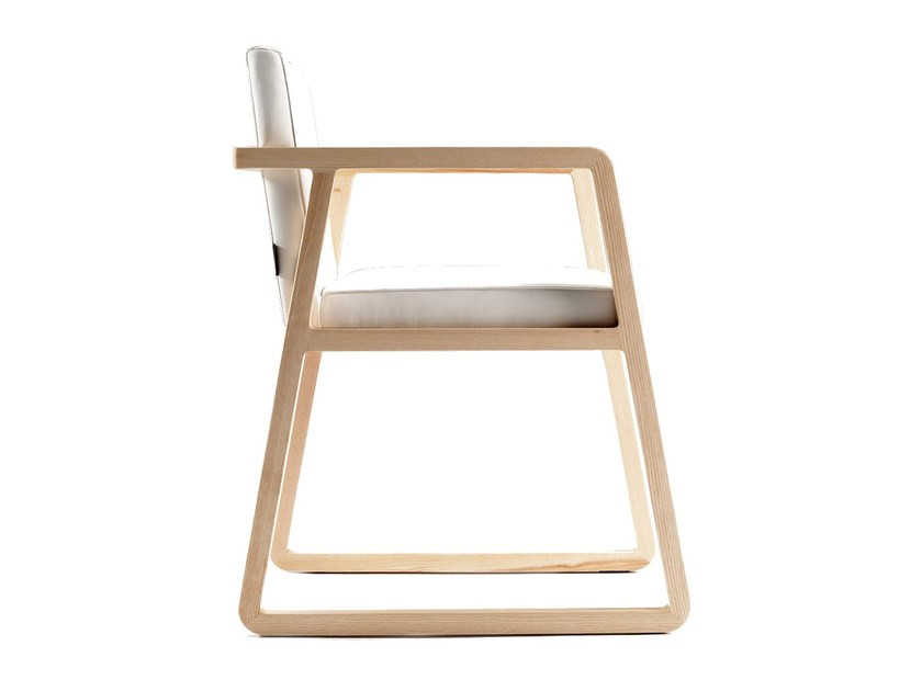 Sled base chair with armrests MIDORI | Chair with armrests - SANCAL