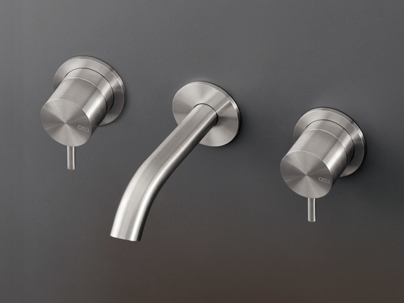 Wall mounted set of individual taps with spout MIL 37 by Ceadesign