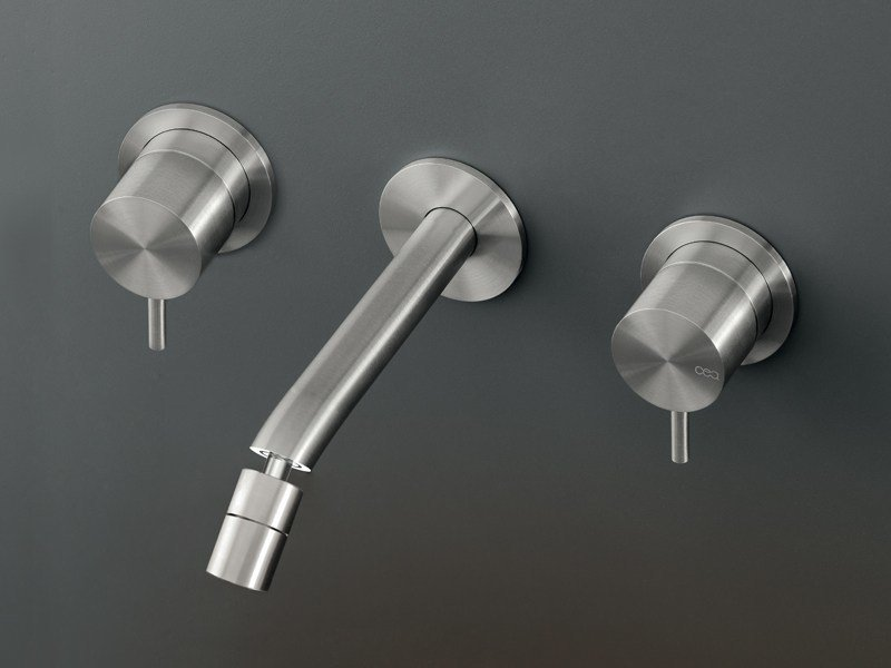 Wall mounted set 2 individual taps with adjustable spout MIL 39 - Ceadesign S.r.l. s.u.