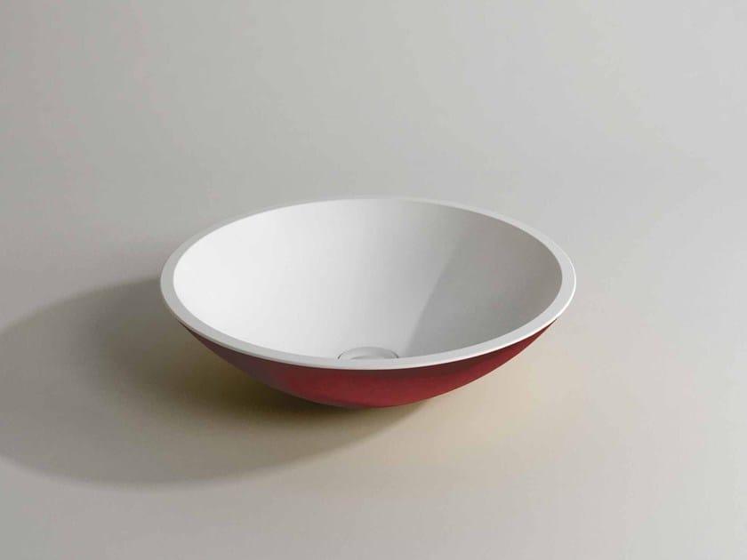 Countertop round washbasin MILA DOUBLE - Flora Style