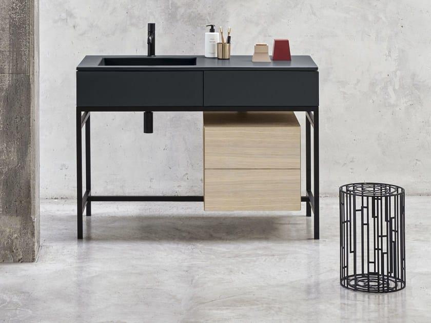Floor-standing vanity unit with drawers MILANO - Ceramica Cielo