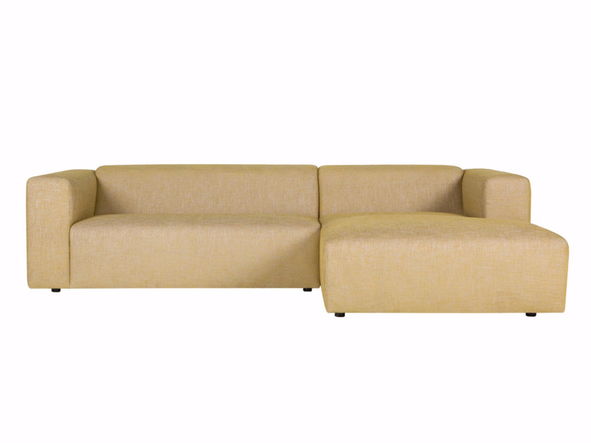 Sectional 3 seater fabric sofa with chaise longue MILANO | 3 seater sofa - SITS