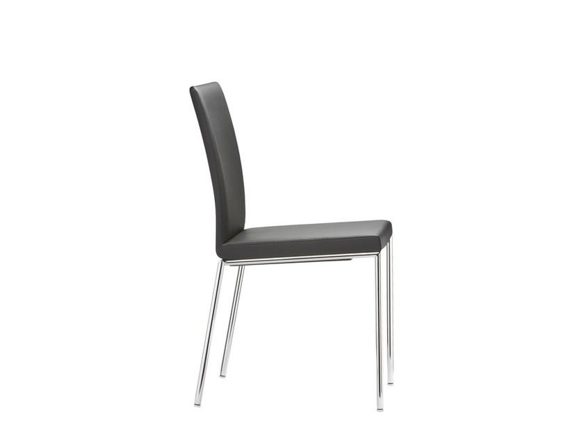 Stackable leather chair MILANOLIGHT COMFORT - Brunner