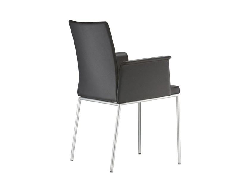 Leather chair with armrests MILANOLIGHT COMFORT | Chair with armrests - Brunner