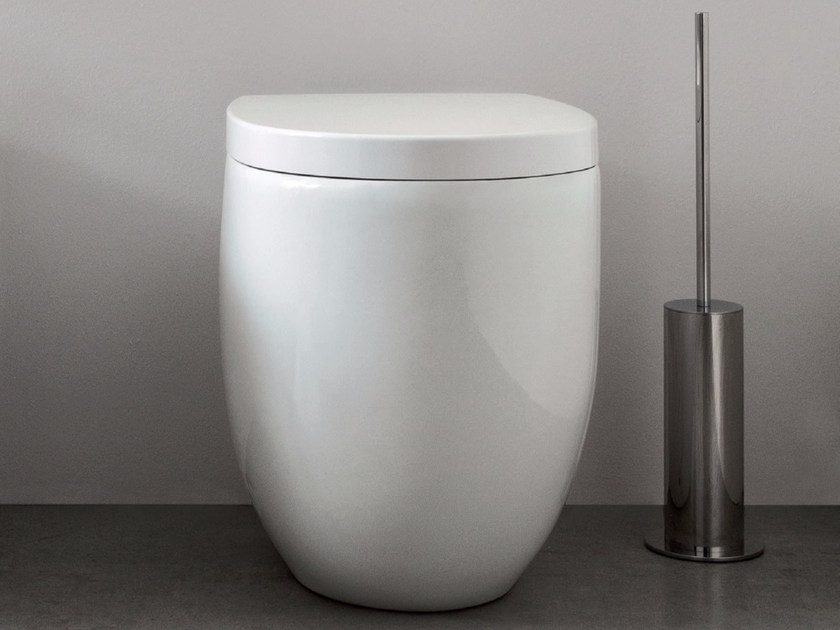 Floor mounted ceramic toilet MILK | Floor mounted toilet by Nic Design