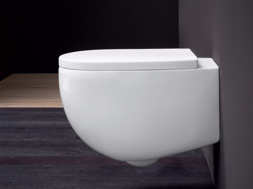 Wall-hung ceramic toilet MILK | Wall-hung toilet by Nic Design