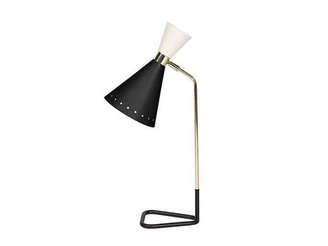 Lampada da scrivania in ottone con braccio fisso MILWAUKEE | Lampada da scrivania by Gianfranco Ferré