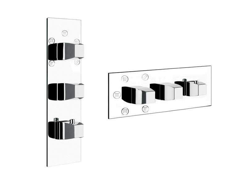 3 hole thermostatic shower mixer MIMI WELLNESS 43092 - Gessi