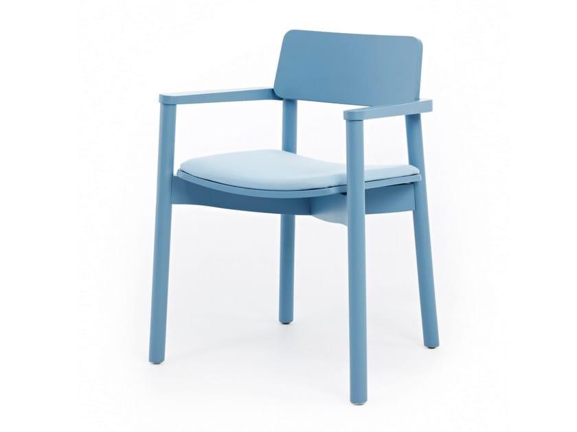 Sedia imbottita in tessuto con braccioli MINE 03 + A - Z-Editions