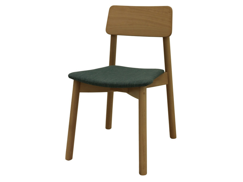Upholstered stackable fabric chair MINE 03 ST - Z-Editions