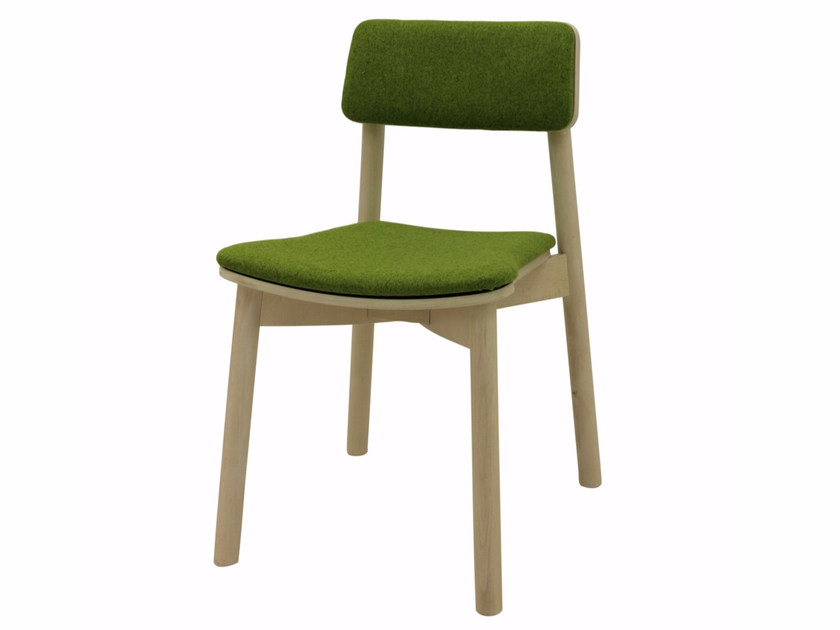 Upholstered stackable fabric chair MINE 04 ST by Z-Editions