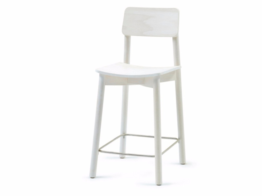 Wooden counter stool with footrest MINE KL 62 - Z-Editions