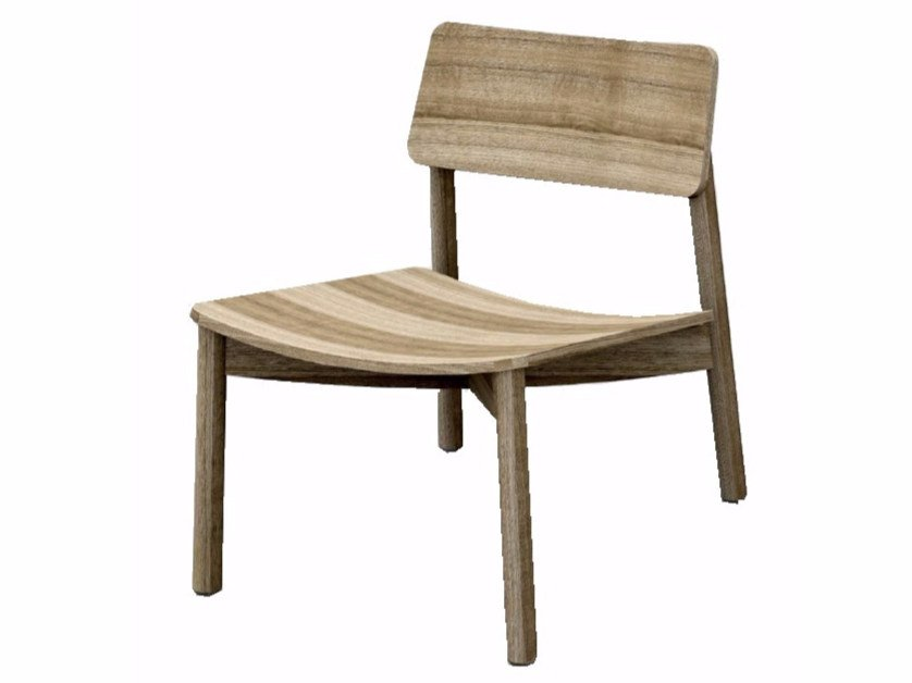 Wooden easy chair MINE LOUNGE - Z-Editions