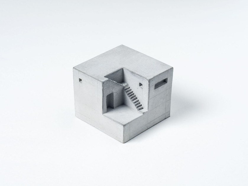 Concrete architectural model Miniature Concrete Home #9 - Material Immaterial studio