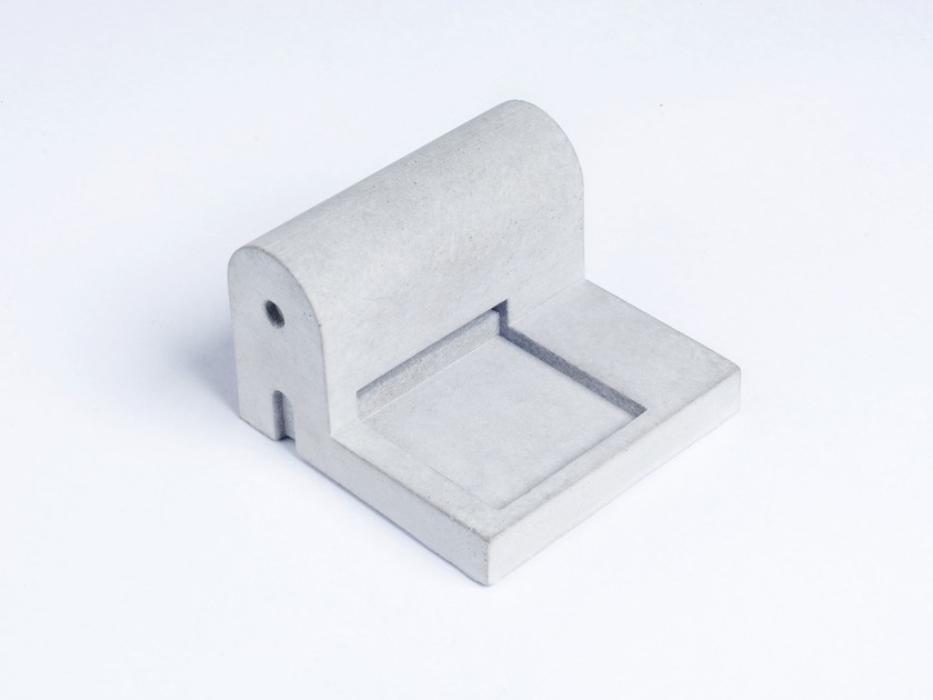 Concrete Furniture knob / architectural model Miniature Home Concrete #10 by mim studio